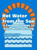 Hot Water from the Sun : A Consumer Guide to Solar Water Heating - The Franklin Research Center