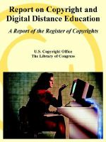 Report on Copyright and Digital Distance Education : A Report of the Register of Copyrights - U.S. Copyright Office