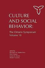 Culture and Social Behavior : The Ontario Symposium, Volume 10
