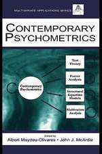 Contemporary Psychometrics : A Festschrift For Roderick P. McDonald - William J. Beck