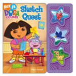 Dora the Explorer Sketch Quest 3 Button Book