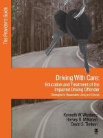 Driving with Care: Provider's Guide : Education and Treatment of the Impaired Driving Offender; Strategies for Responsible Living - Kenneth W. Wanberg