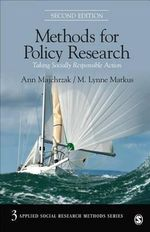 Methods for Policy Research : Taking Socially Responsible Action - Ann Majchrzak