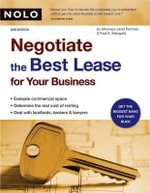 Negotiate the Best Lease for Your Business : Negotiate the Best Lease for Your Business - Attorney Janet Portman