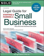 Legal Guide for Starting & Running a Small Business - Attorney Fred S Steingold