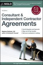 Consultant & Independent Contractor Agreements - Stephen, J.D Fishman