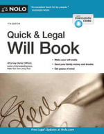 Quick & Legal Will Book - Denis Clifford