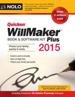 Quicken Willmaker Plus 2015 Edition : Book & Software Kit - Editors Of Nolo