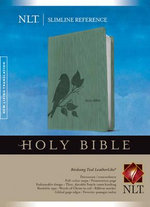 Slimline Reference Bible-NLT-Birdsong : New Living Translation Teal Birdsong Leatherlike Slimline Reference Bible - Tyndale House Publishers