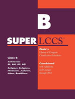 SUPERLCCS 2012 : Subclass Bl-Bq: Religion, Buddhism