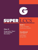 SUPERLCCS 2012 : Class G: Georgraphy, Anthropology, Recreation
