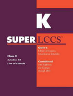 SUPERLCCS 2012 : Subclass Ke: Law of Canada