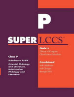 SUPERLCCS 2012 : Subclass Pj-Pk: Oriental Philology and Literature, Indo-Iranian Philology and Literature
