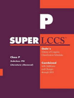 SUPERLCCS 2012 : Subclass PN: Literature (General)