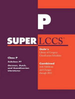 SUPERLCCS 2012 : Subclass PT: German Literature