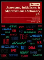 Reverse Acronyms, Initialisms & Abbreviations Dictionary : 4 Volume Set