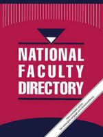 National Faculty Directory : 8 Volume Set