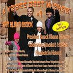 4 Years Best Wishes!  President Barack Obama & Family - Style 1 - English - Arnold Vinette