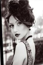 Felt Journal - B & W Paisley Dress - Delicious Stationery