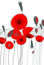 Small Notebook - Round Poppies - Delicious Stationery