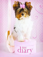 Sparkle Lock-up Diary - Pink Bow Dog - Delicious Stationery