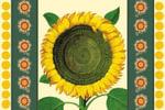 Sunflower Tear Off Placemat Pad - Leslie Evans