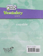 Steck-Vaughn Elements of Reading Vocabulary : Writer's Log Book Grade 5 - Various