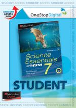 Science Essentials 7 for NSW : Digital Online Access for Students - Australian Curriculum Edition - Ken Williamson