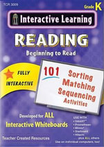 Interactive Learning: Beginning to Read (CD) : Grade K - Teacher Created Resources