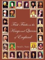 Fast Facts on the Kings and Queens of England - David L. Tunis