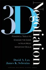 3-D Negotiation - David A. Lax