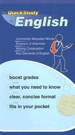 The Quickstudy for English : Quickstudy Books - BarCharts Inc