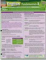 English Fundamentals 3 : Reference Guide - BarCharts, Inc.