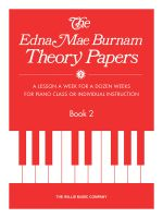 Theory Papers - Set 2 : Mid-Elementary Level - Edna Mae Burnam