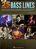 25 Great Bass Lines : Transcriptions, Lessons, Bios, Photos - Glenn Letsch