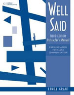 Well Said : Instructor's Manual - Linda Grant