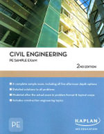 Civil Engineering PE Sample Exam : Kaplan Aec Education Ser. - Jorge L. Rodriguez