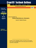 Studyguide for Global Marketing by Johansson, ISBN 9780072471489 - Sonny Ed. Johansson