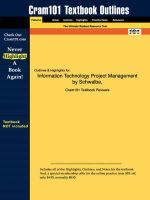 Studyguide for Information Technology Project Management by Schwalbe, ISBN 9780619159849 - 3rd Edition Schwalbe