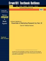 Outlines & Highlights for Essentials of Marketing Research by Hair et al... : 9780073381022 - Cram101 Textbook Reviews