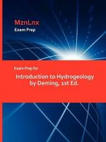 Exam Prep for Introduction to Hydrogeology by Deming, 1st Ed -  Deming