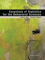 Essentials of Statistics for the Behavioral Sciences : Ebook Access Card - University Susan Nolan
