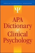 APA Dictionary of Clinical Psychology : English-Italian, Italian-English