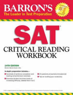 SAT Critical Reading Workbook - Sharon Weiner Green