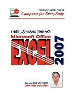 Easy Ms Excel 2007 - Thong Ong