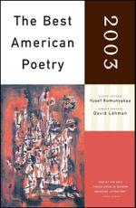 The Best American Poetry 2003 : Series Editor David Lehman - Yusef Komunyakaa