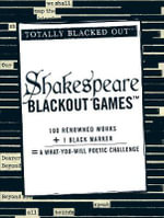 Shakespeare Blackout Games : Totally Blacked Out - Adams Media