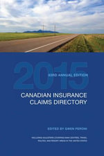 Canadian Insurance Claims Directory 2015 : Canadian Insurance Claims Directory - Gwen Peroni