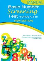 Basic Number Screening Test Manual - Bill Gillham