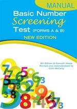 Basic Number Screening Test Specimen Set - Bill Gillham